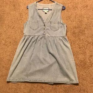 Button front Jean dress